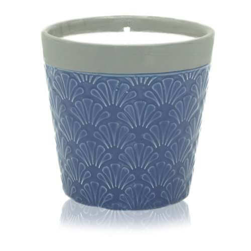 home soy candle pot - blue day