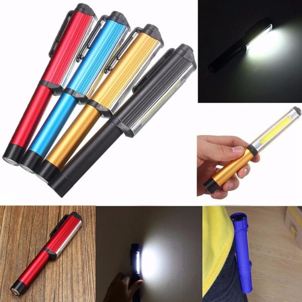 New Portable Magnetic Garage Car 30 7 Led Work Light Torch: 3W LED COB Pocket Pen Clip Light