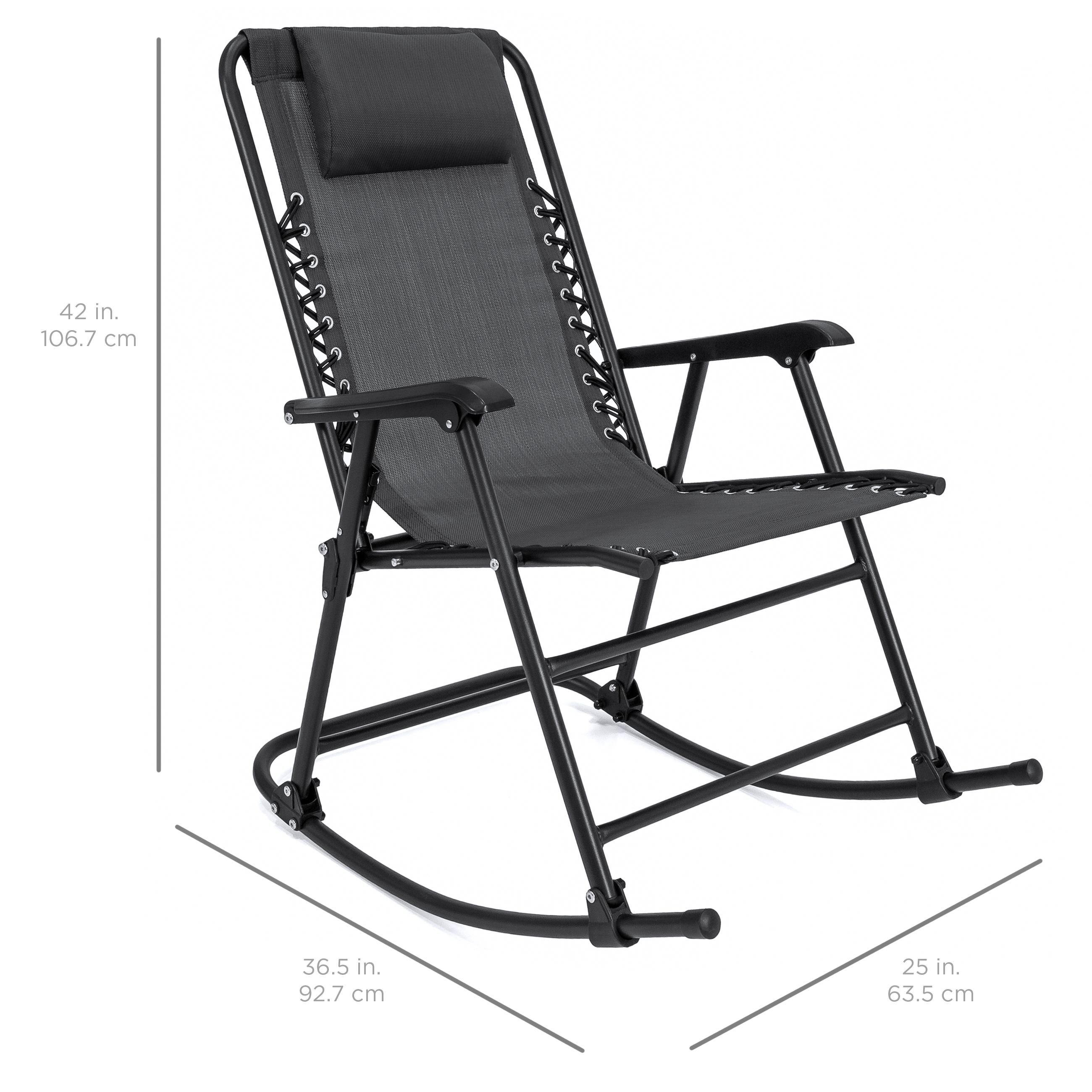 BCP-Foldable-Zero-Gravity-Patio-Rocking-Lounge-Chair thumbnail 21