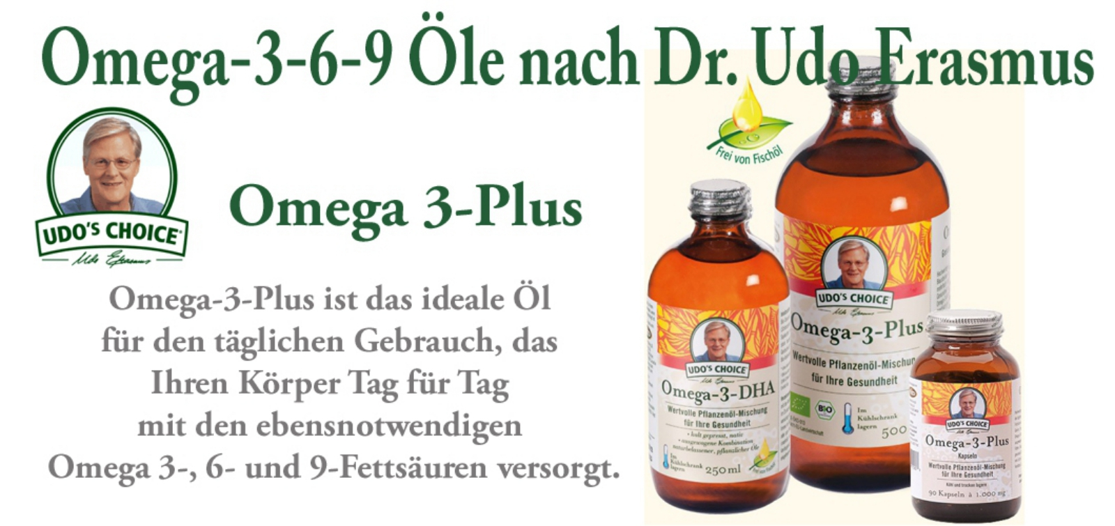 Omega-3-Plus Ölmischung von Dr. Udo Erasmus