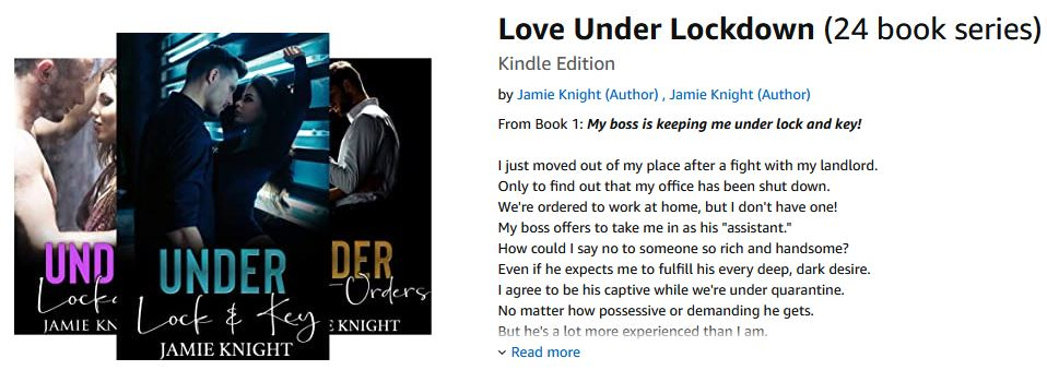 Love Under Lockdown series by Jamie Knight