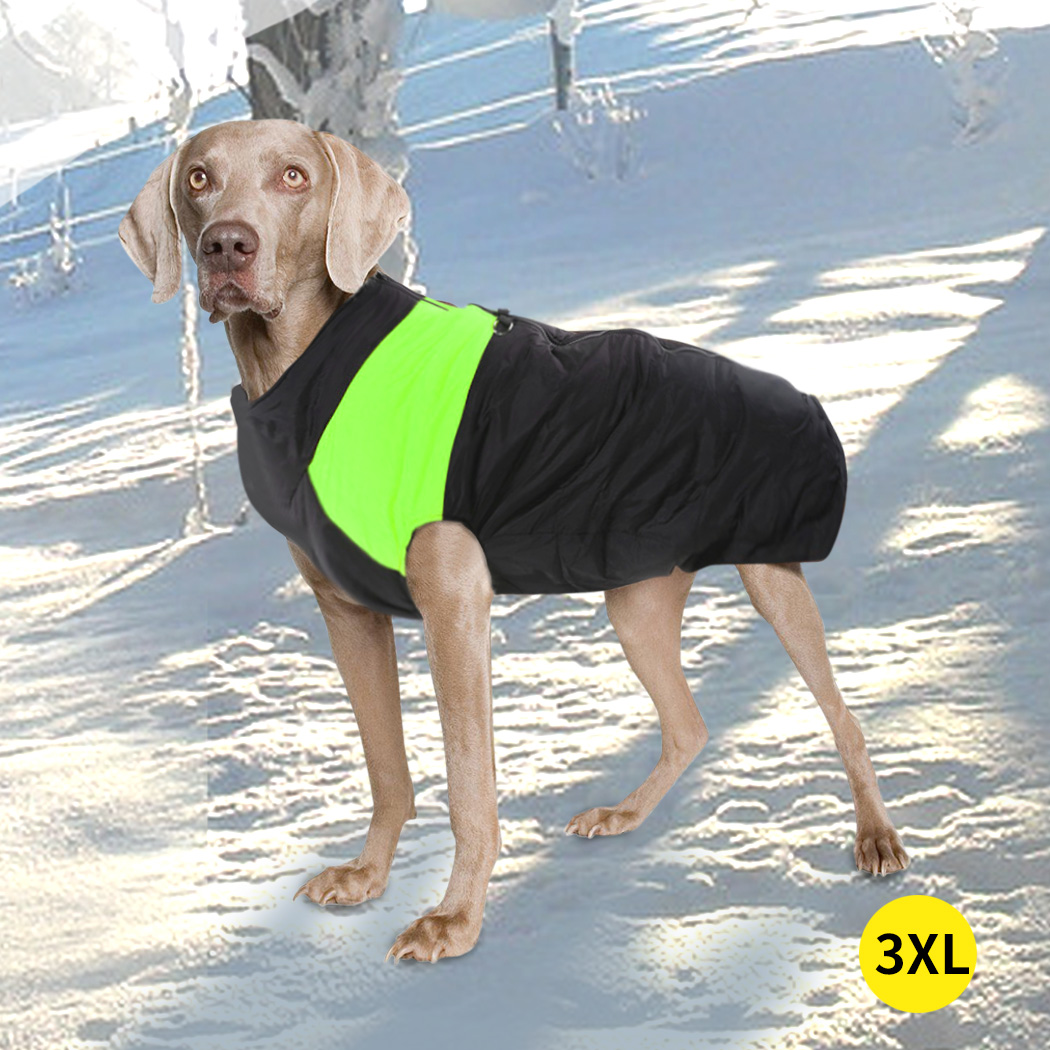 thumbnail 60 - PaWz Dog Jacket Large Pet Jackets Coat Waterproof Clothes Winter Vest Green