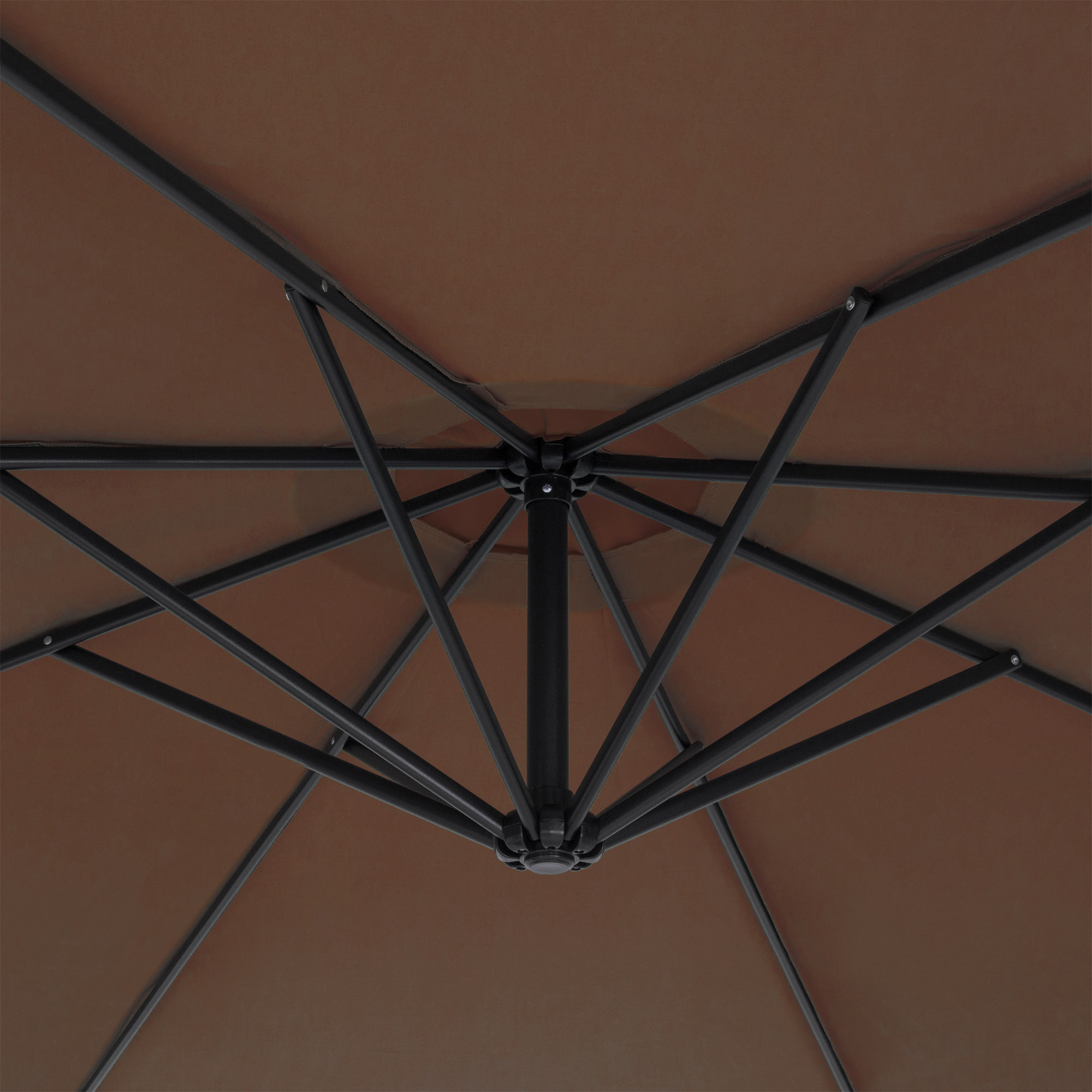 BCP-10ft-Offset-Hanging-Market-Patio-Umbrella-w-Tilt-Adjustment-Hand-Crank thumbnail 22