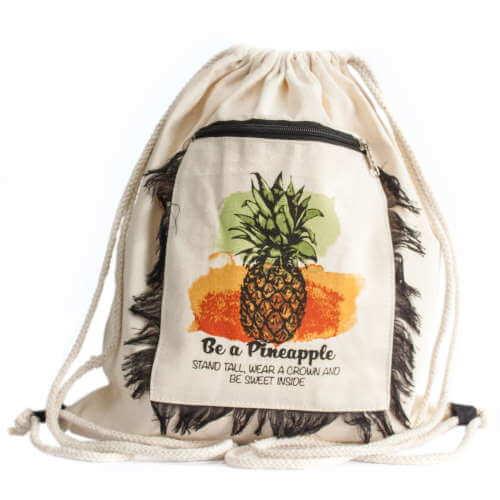 fringe backpack - pineapple