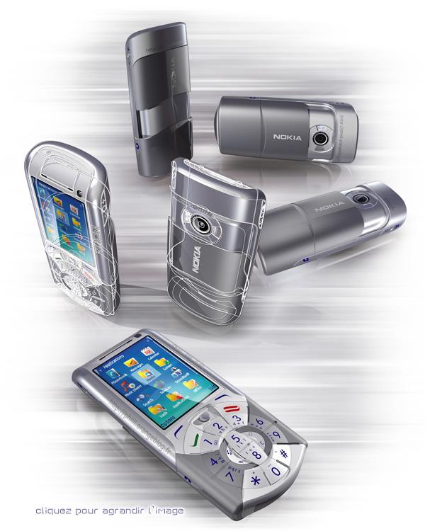 Smartphone Nokia N74 en 3D. Cliquez pour voir en HD