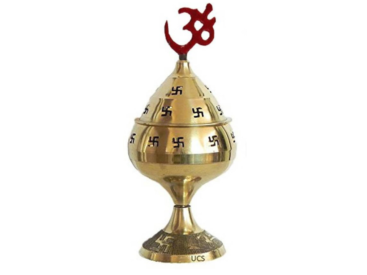 Pooja Akhand Diya in Brass