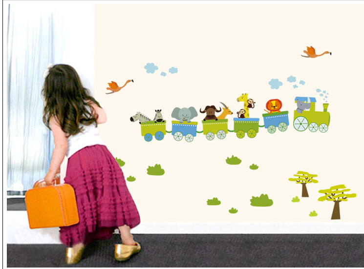 Kids / Nursery Jungle Safari Animals Removable Wall Decal