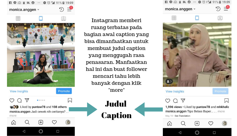 7 Cara Menulis Caption Instagram