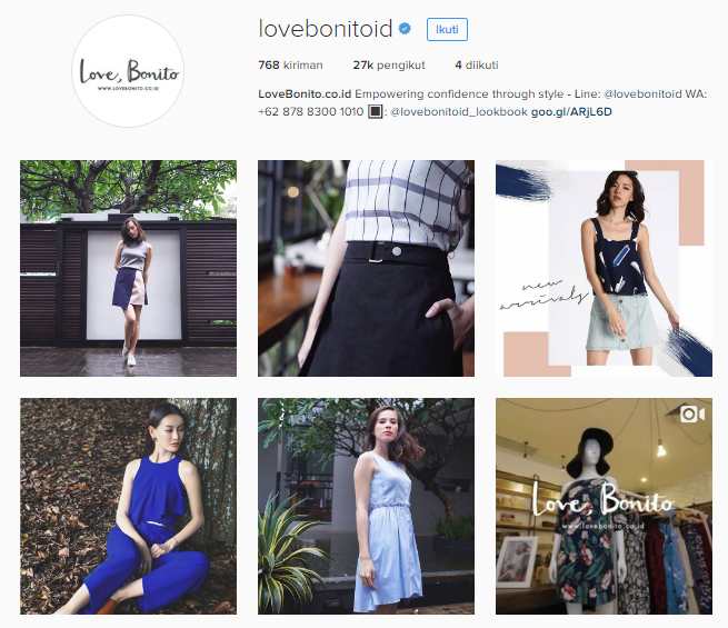 instagram Love Bonito Indonesia