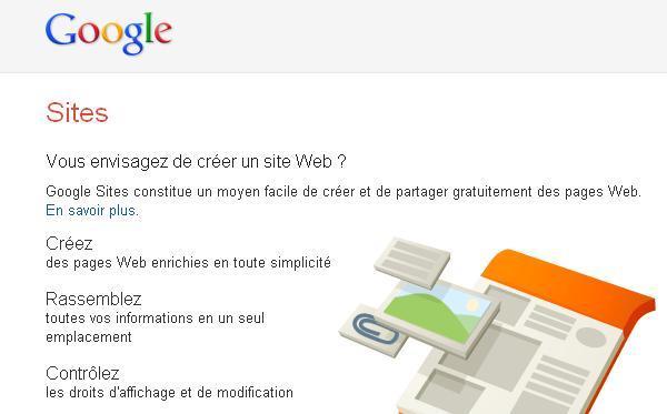 Comment creer un site web gratuitement avec Google Sites