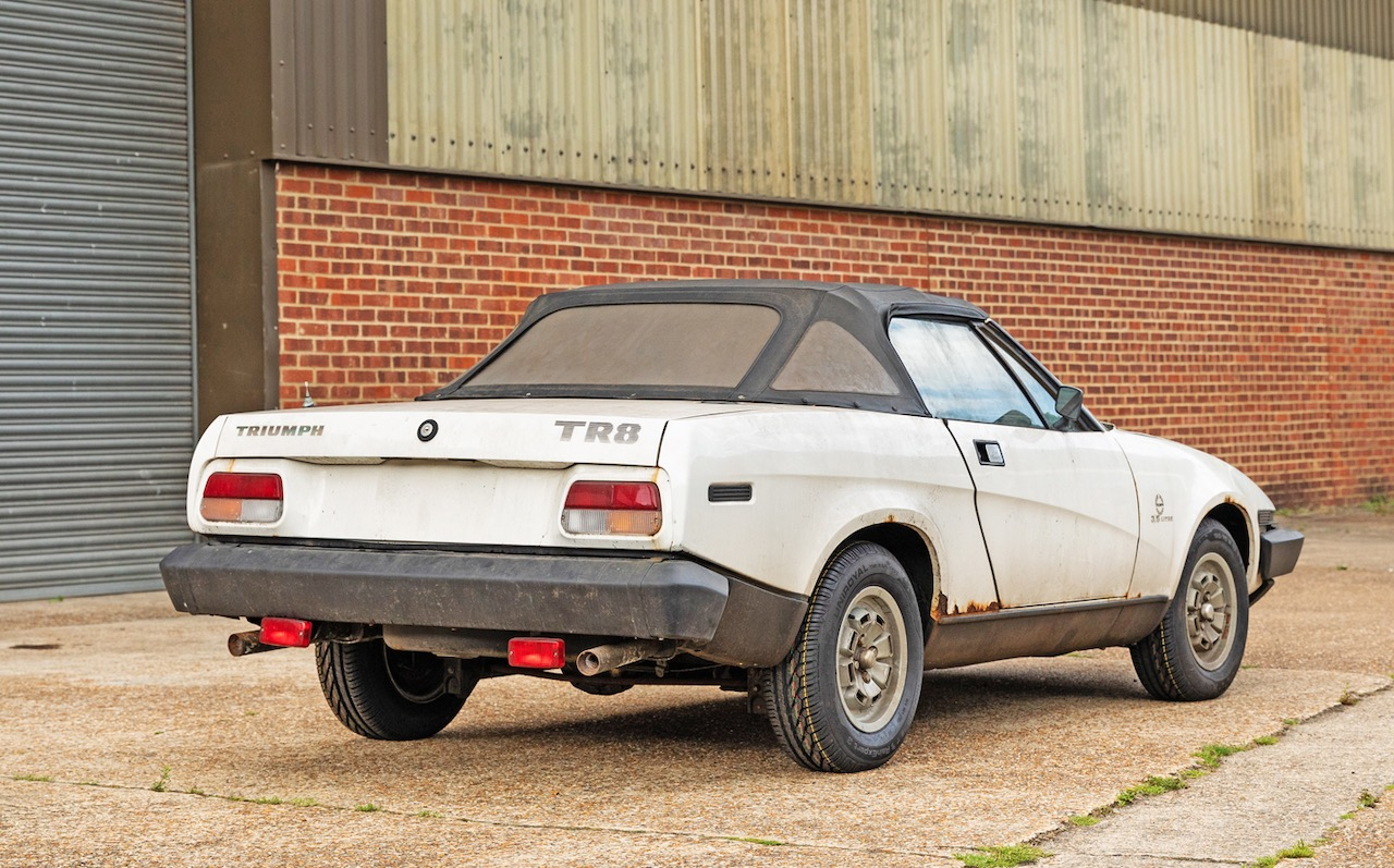 Unregistered pre-production Triumph TR8 with 73 miles heads to auction
