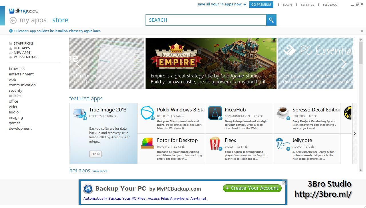 [軟件] Allmyapps - Windows上的Play Store 1