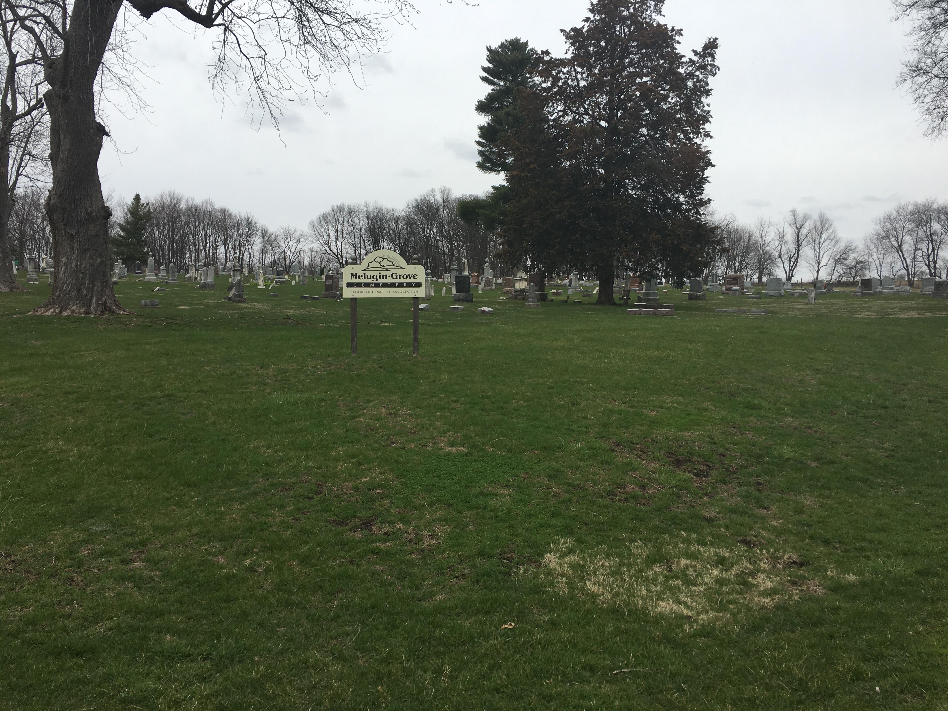 Melugin Grove cemetery Sign