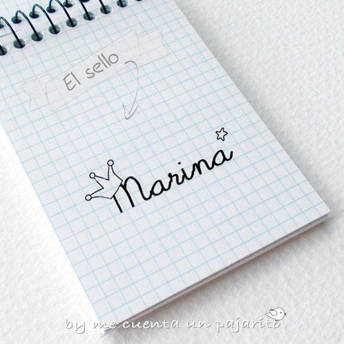 Sello personal para la papelería del cumpleaños de Marina