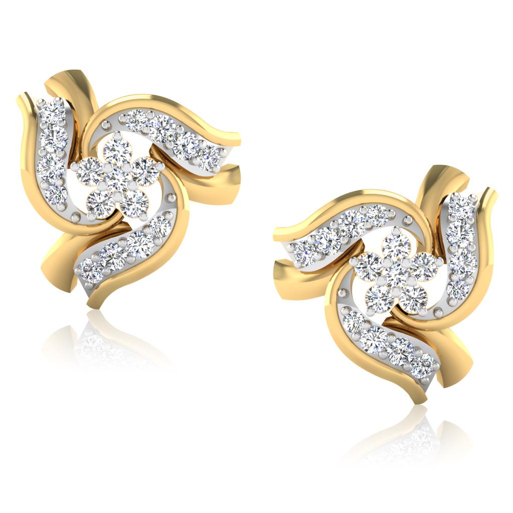 The Ramosa Diamond Stud Earrings