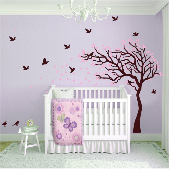 Nursery cot side kids wall sticker