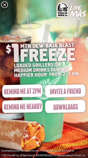 taco bell happier hour