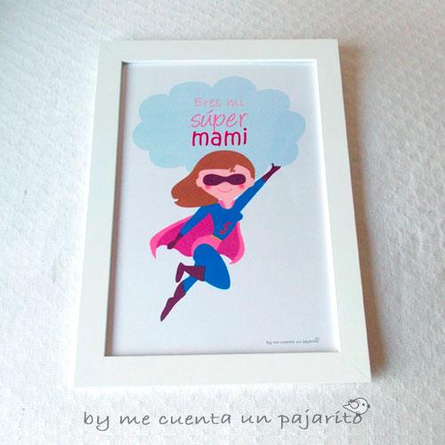Lámina del día de la madre, eres mi súper mami, mamá, superheroe