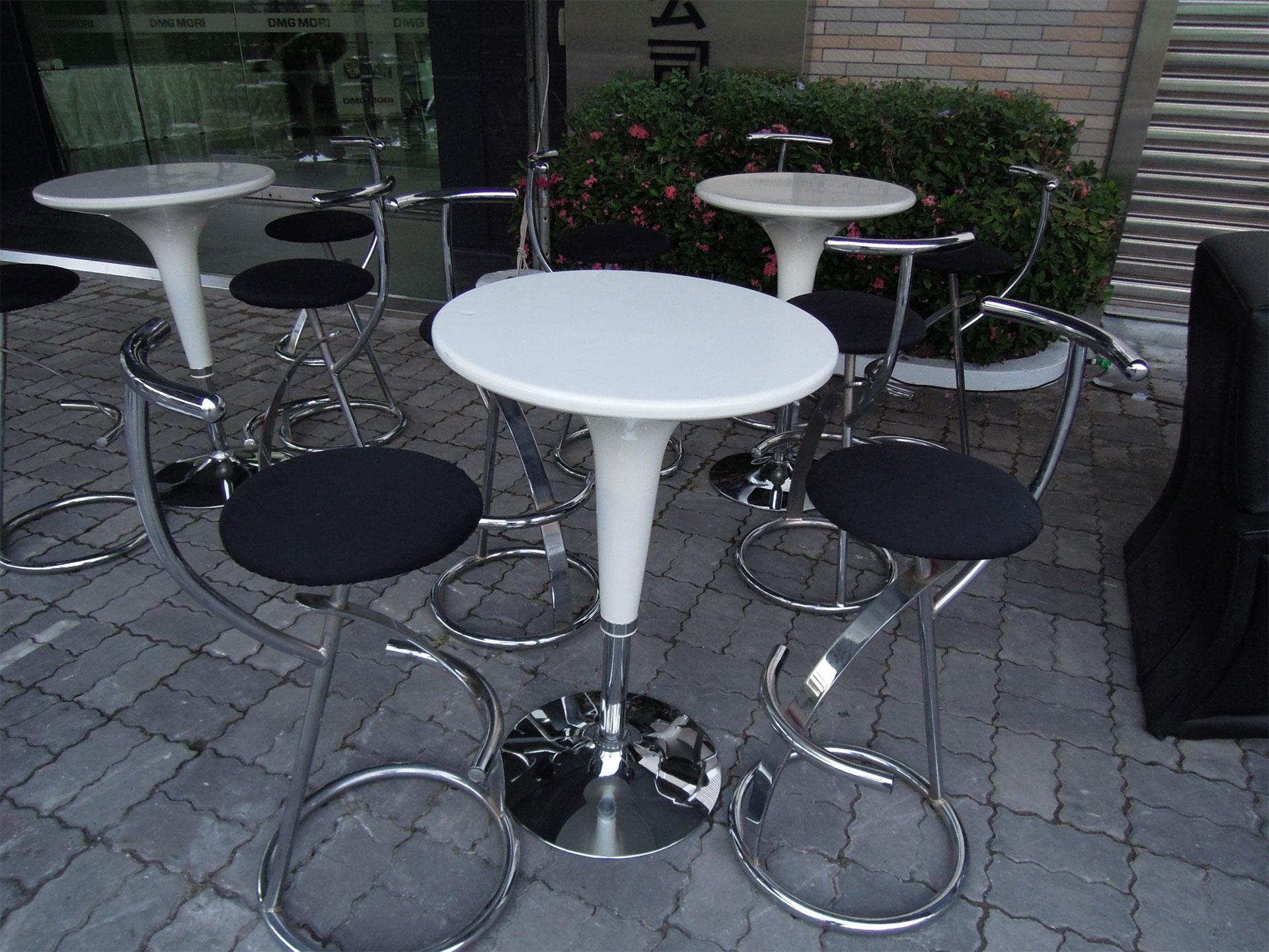 飛碟桌,高腳椅