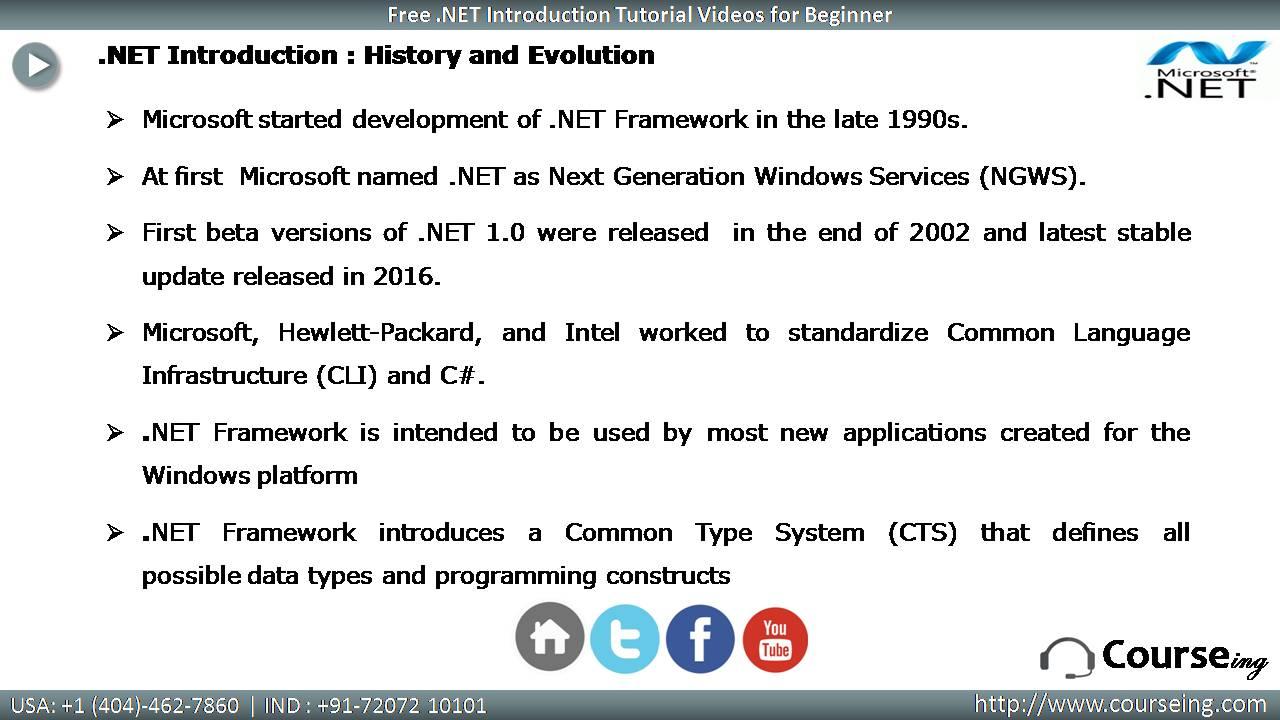 Dot Net History and Evolution