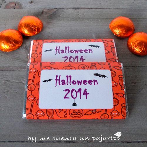 Chocolatinas para la fiesta de Halloween