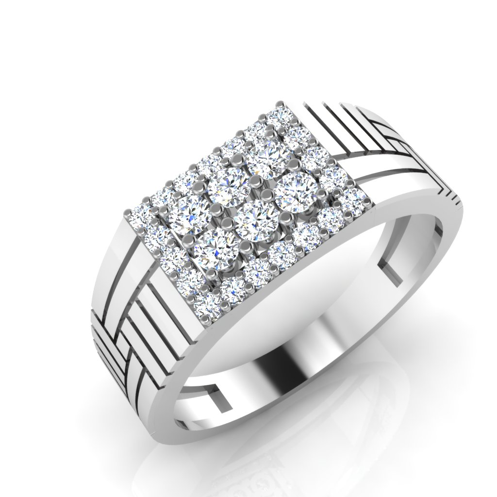 The Query Diamond Mens Ring