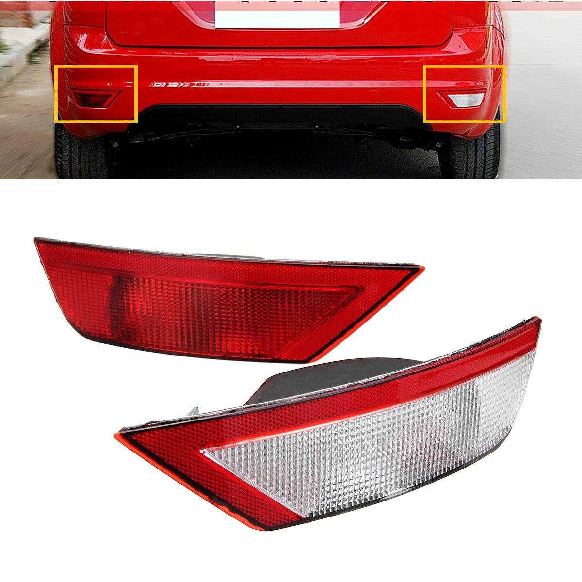 Daytime Running Lights  Right Side Rear Tail Fog Light Bumper Reflector For Ford Focus