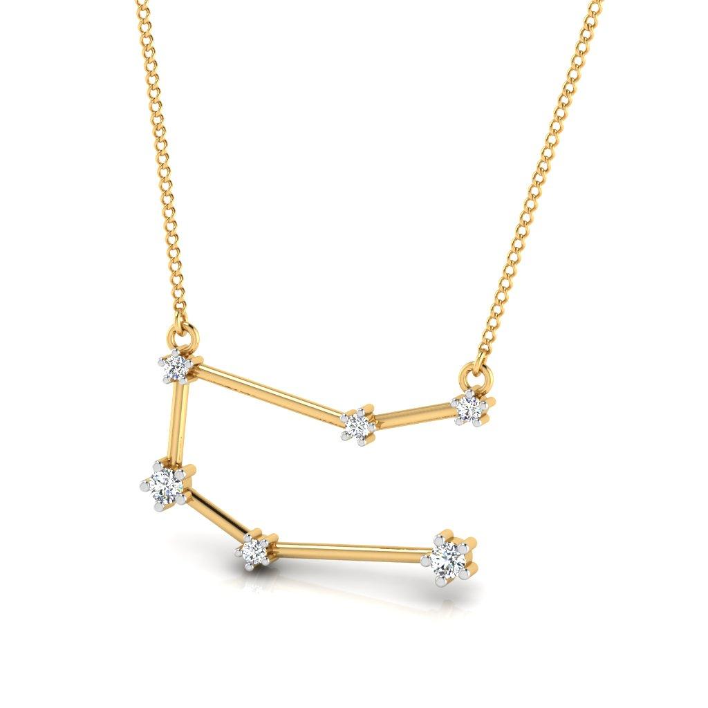 The Gemini Zodiac Diamond Pendant
