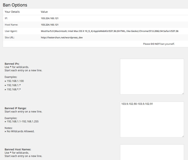 Blokowanie adresu IP za pomocą pluginu WP-Ban.