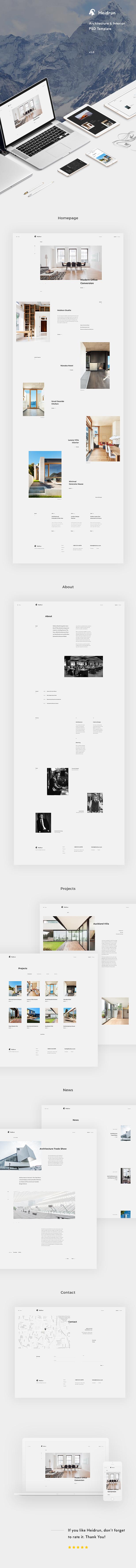 Heidrun - Architecture & Interior PSD Template - 1