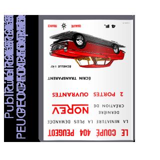 Publicité 1963 PEUGEOT 404 coupé