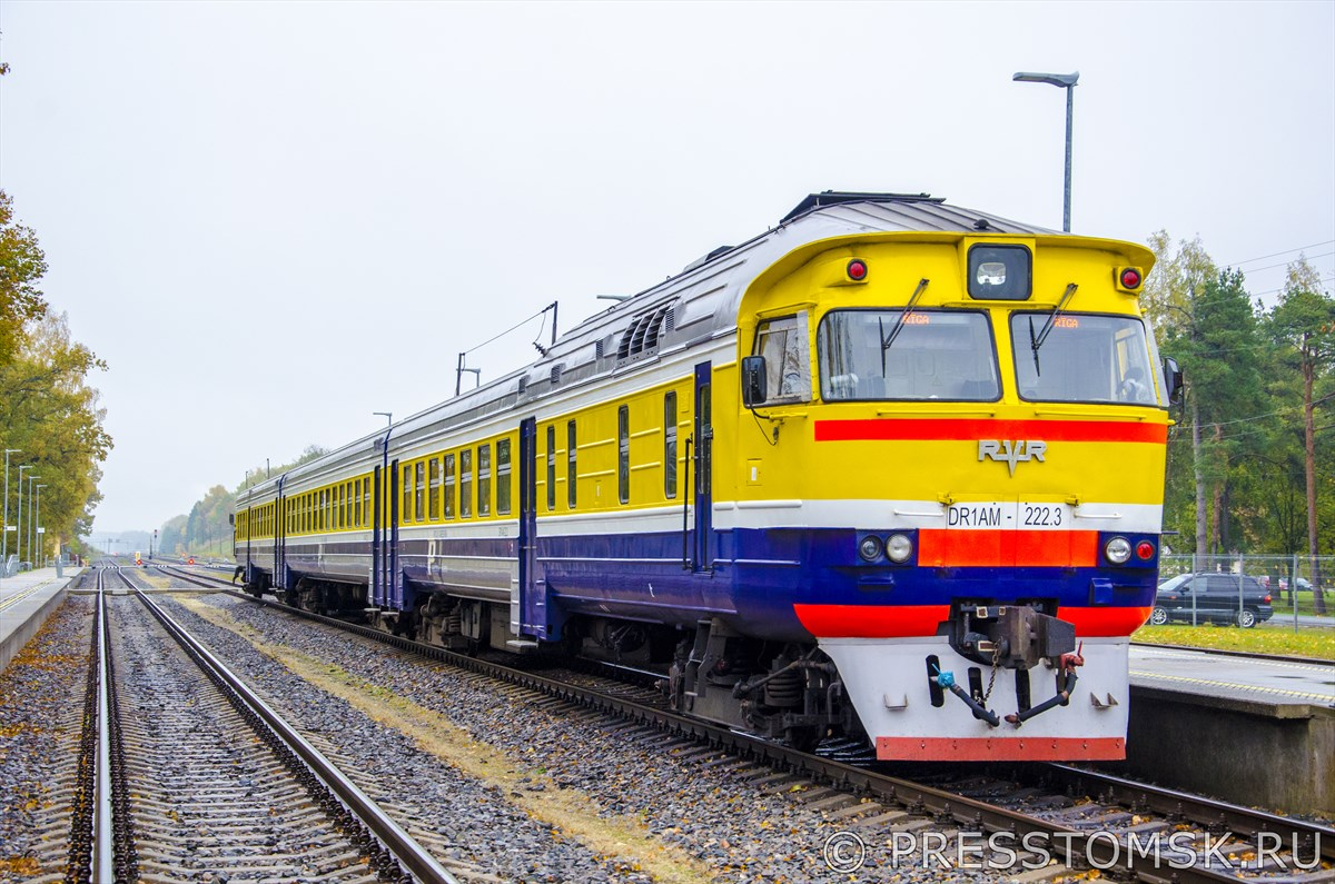 Поезд до Риги компании Pasažieru vilciens