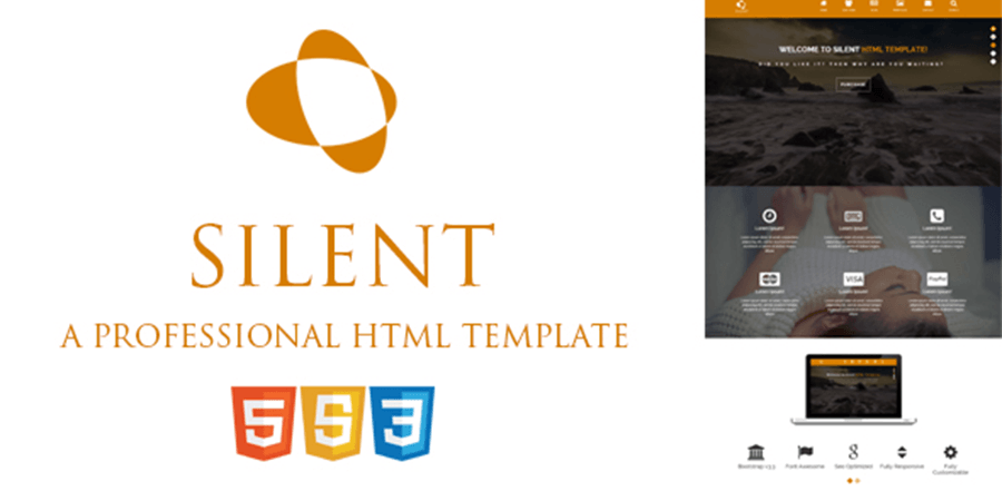 Silent – Free Onepage Bootstrap HTML Template