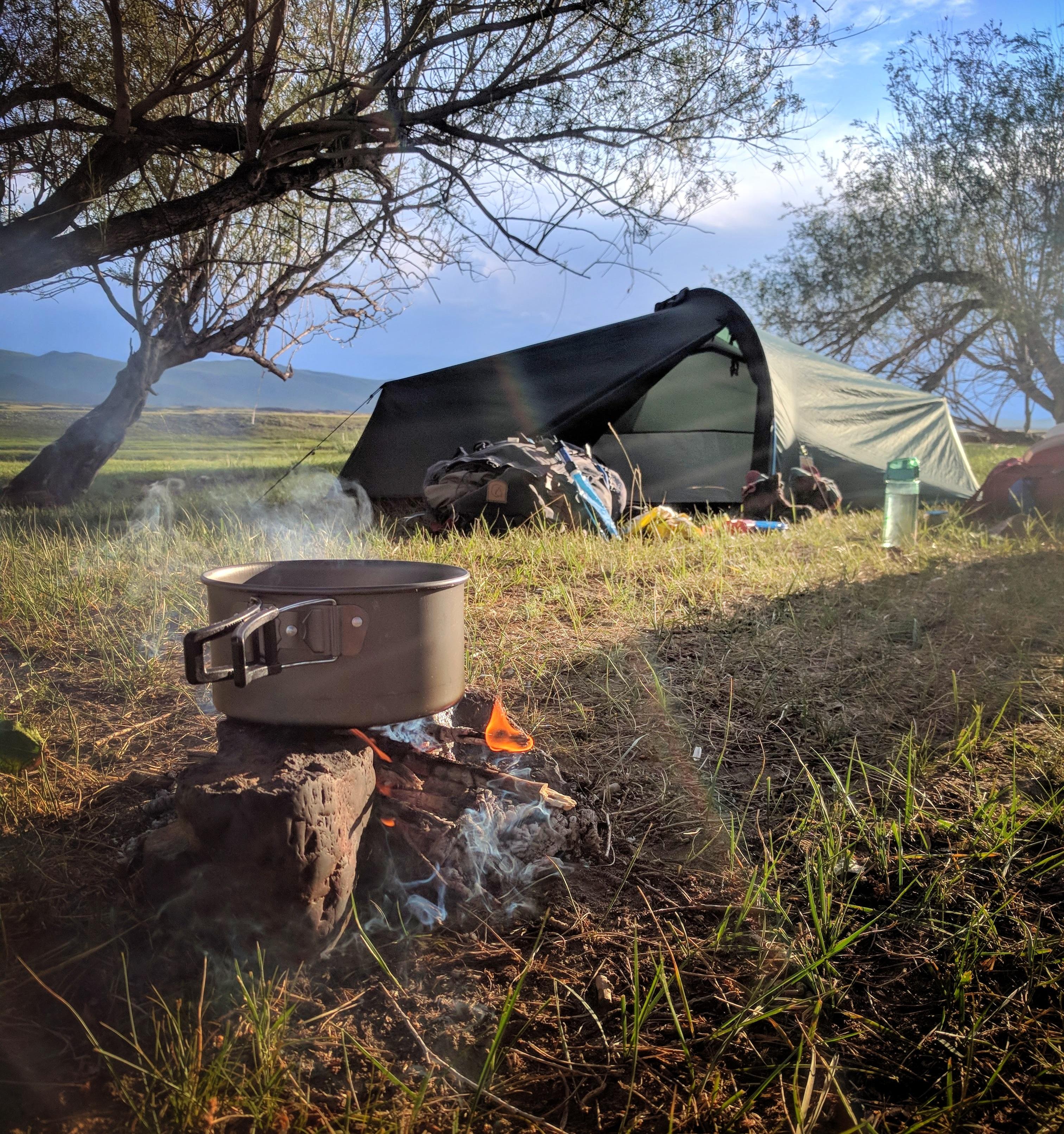 Koken op een vuurtje