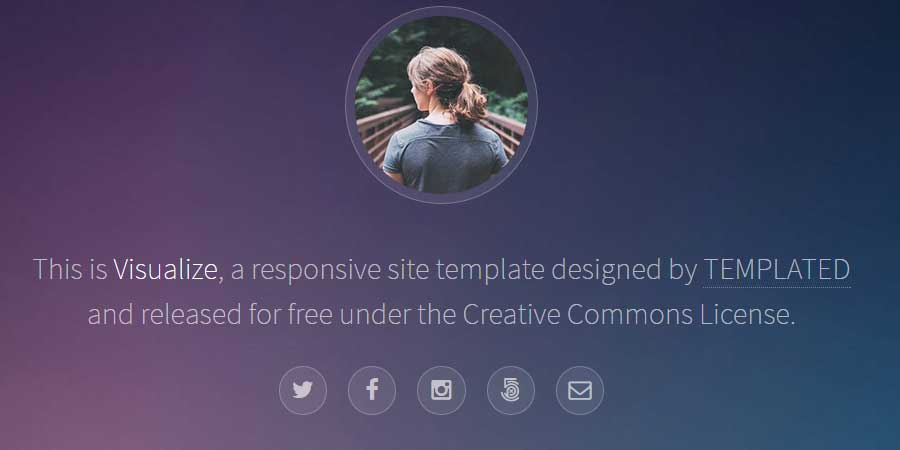 Visualize – Free HTML Photo Gallery Template