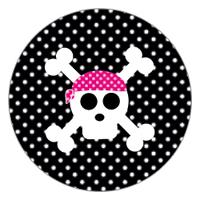 Topper de cumpleaños pirata niña