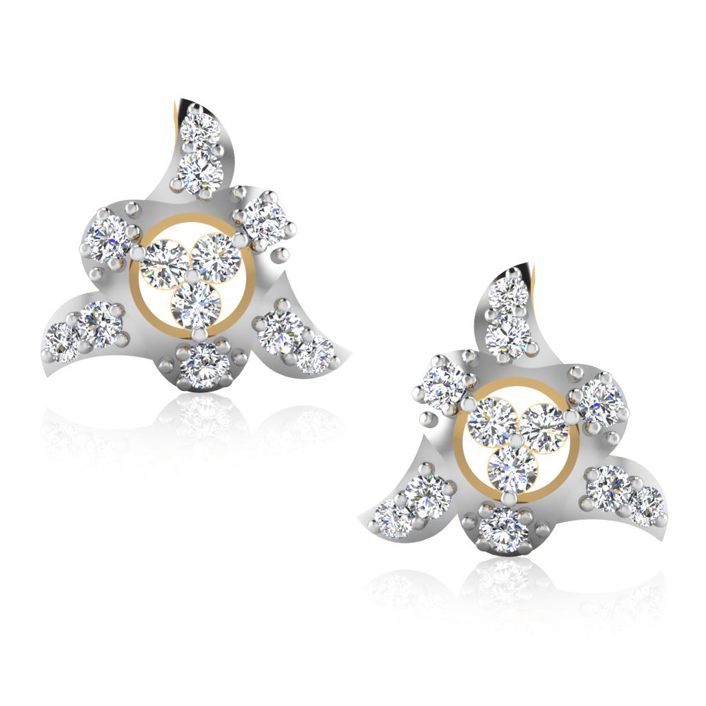 The Angelic Diamond Stud Earrings