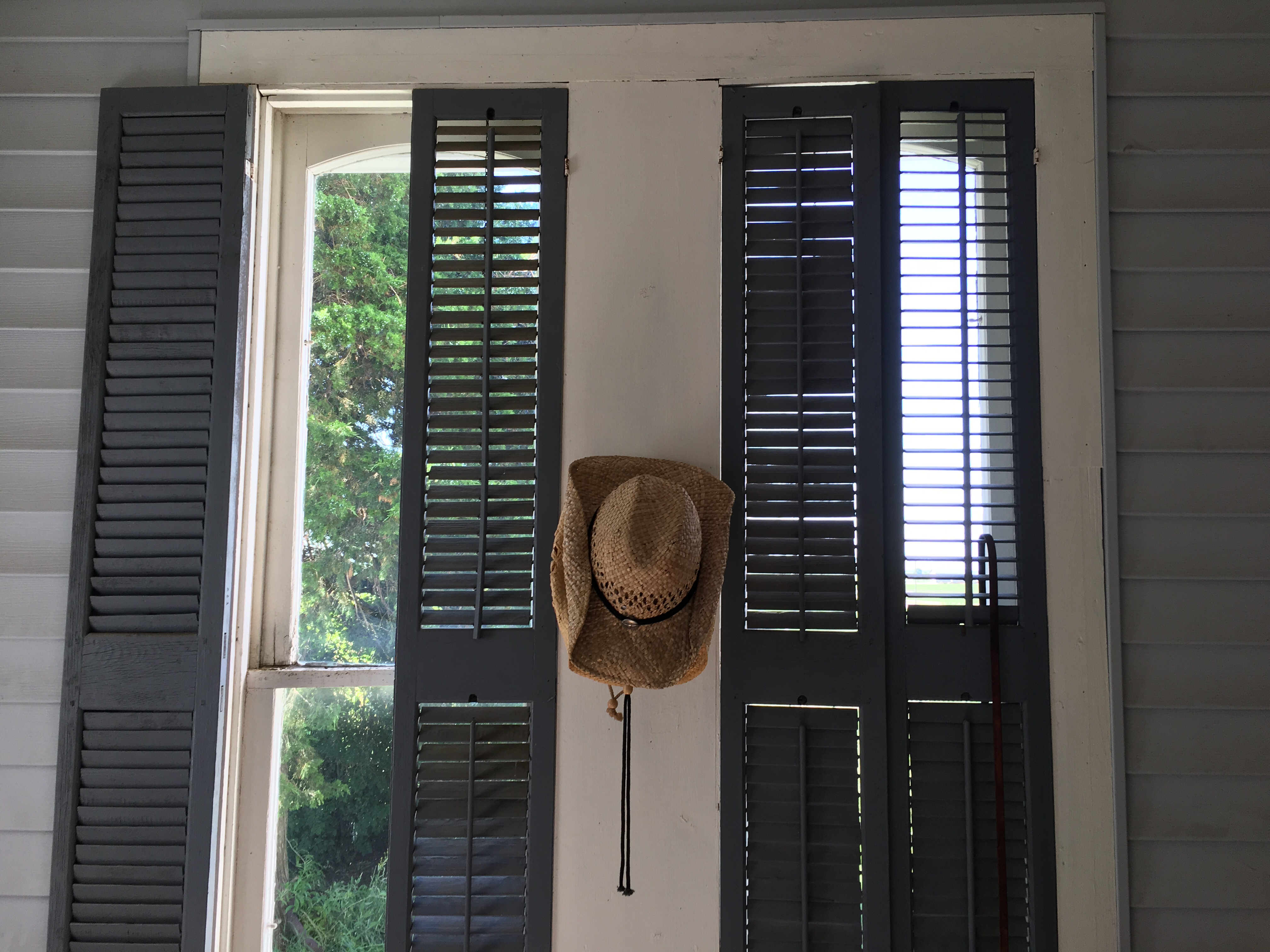 Shutters on Porch