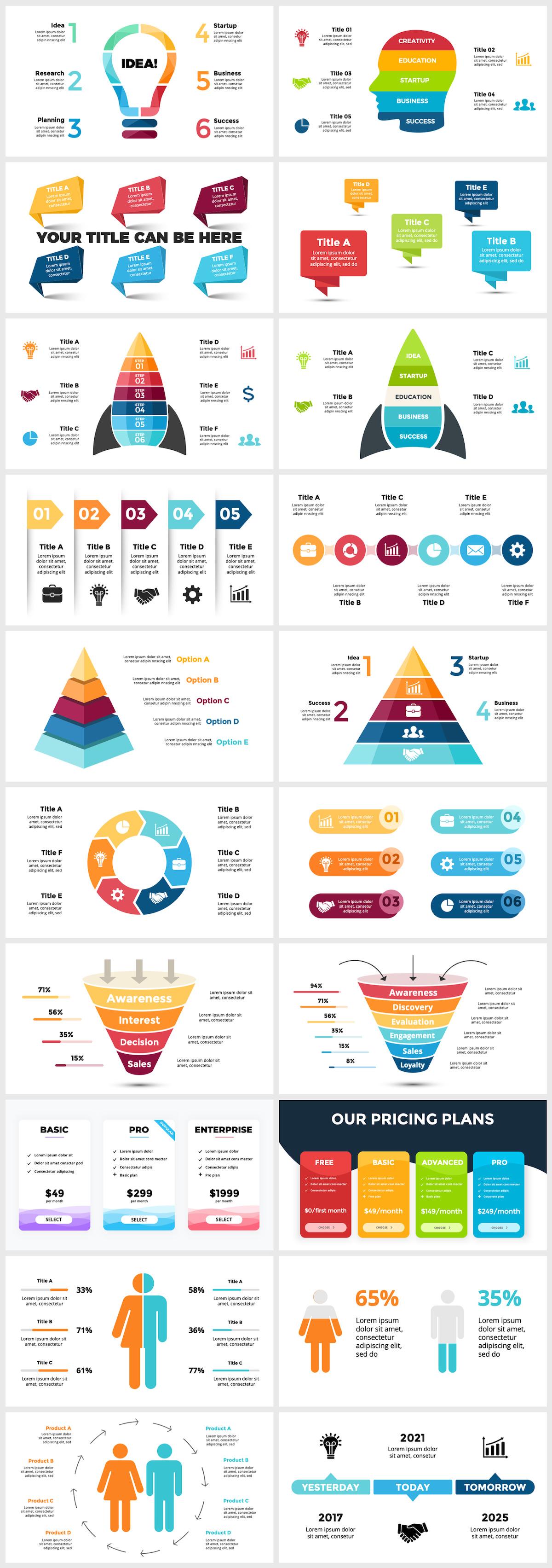 Huge Infographics Bundle! Lifetime Updates! PowerPoint, Photoshop, Illustrator. - 32