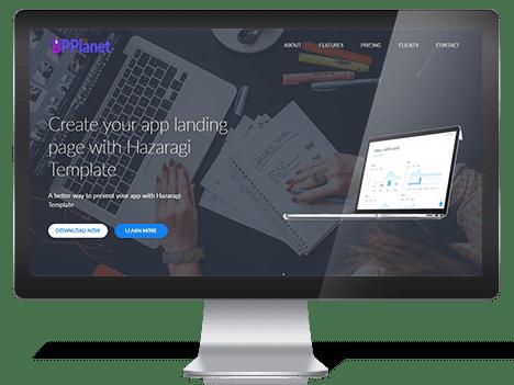 Hazaragi – Free App Landing Page