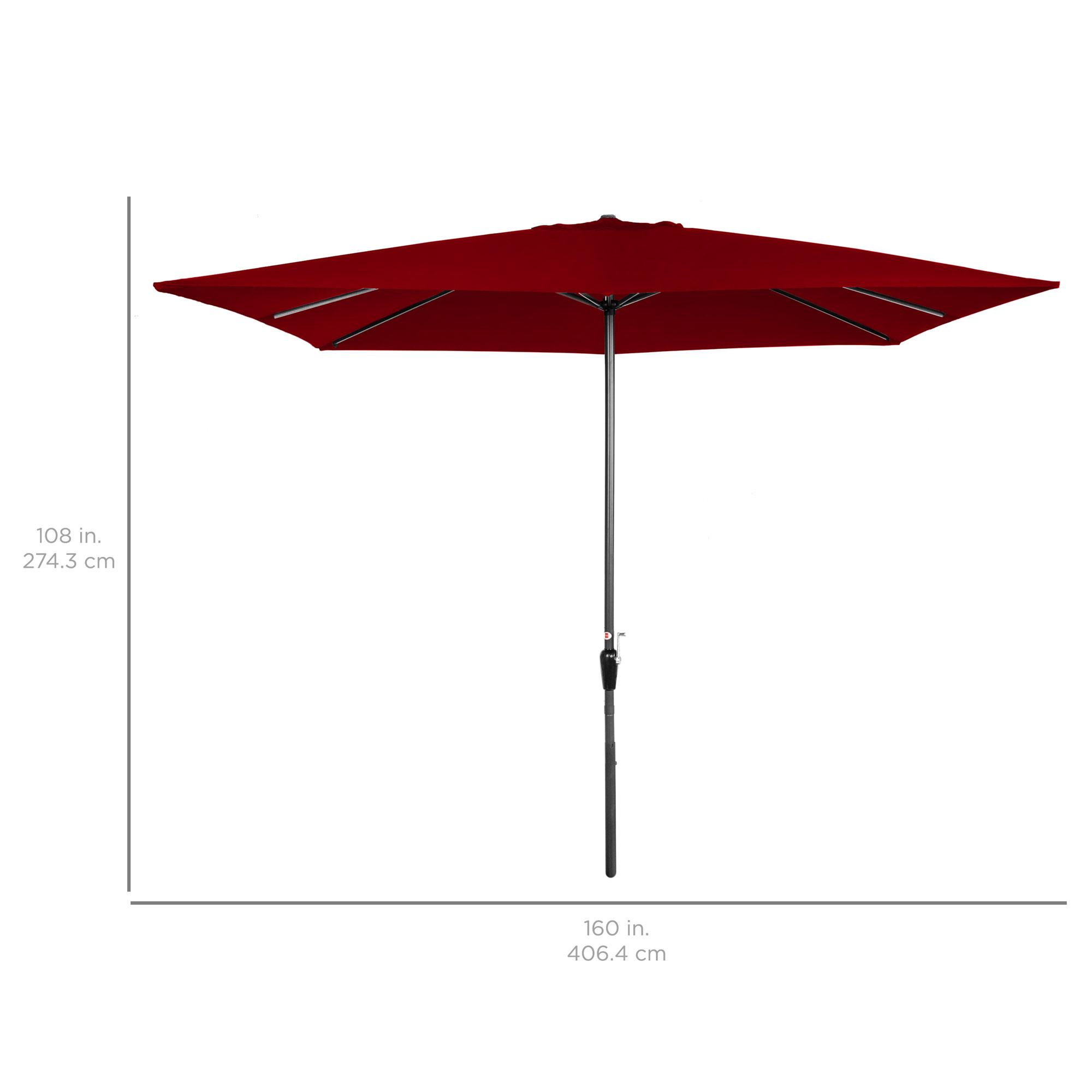 BCP-8x11ft-Rectangular-Patio-Umbrella-w-Easy-Crank-UV-Resistant-Fabric thumbnail 7