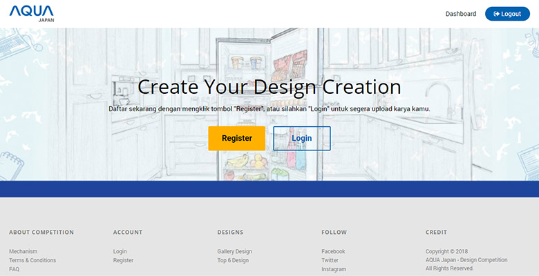 Microsite Design Competition AQUA Japan Indonesia