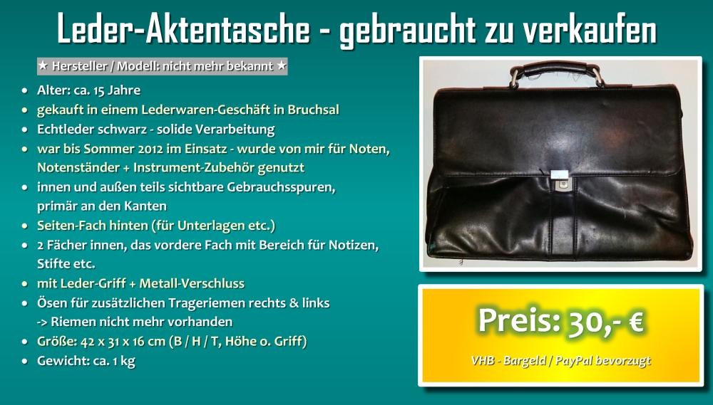 Leder-Aktentasche - gebraucht zu verkaufen