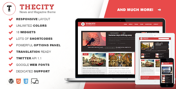 city preview Solaris   Responsive WordPress Magazine Theme (Blog / Magazine)