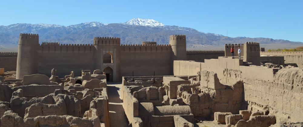 Rayen-citadel met onze twee ontdekkingsreizigers