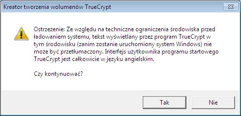 Truecrypt w języku Angielskim