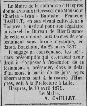 Charles Raoult - Haspres