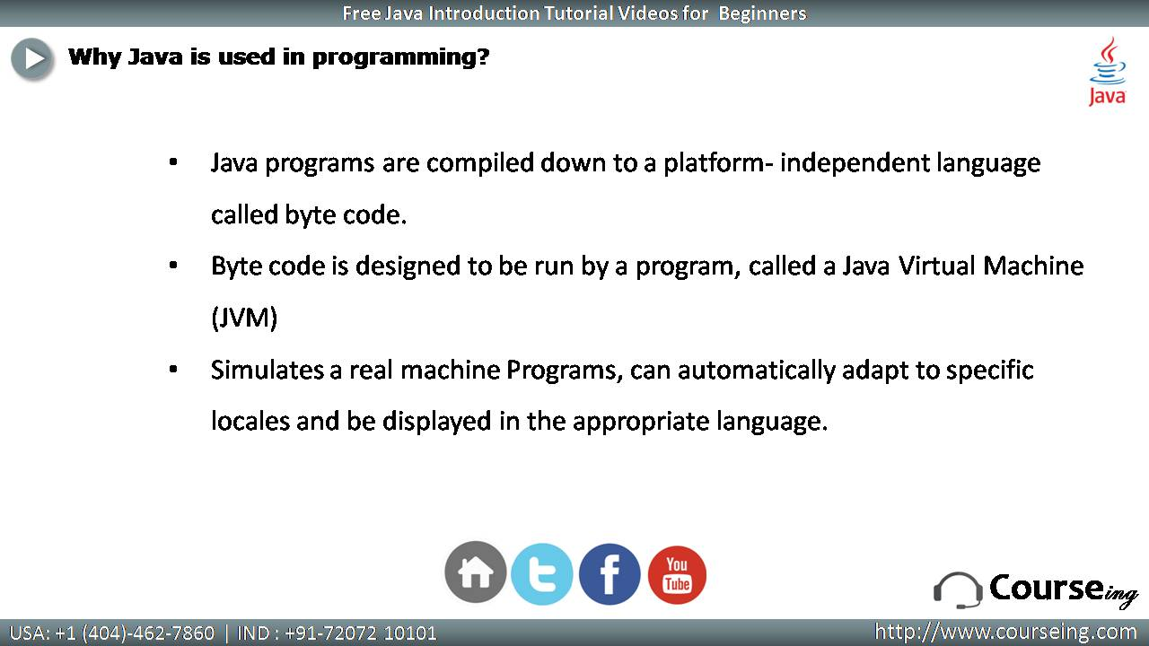 Why java is Used