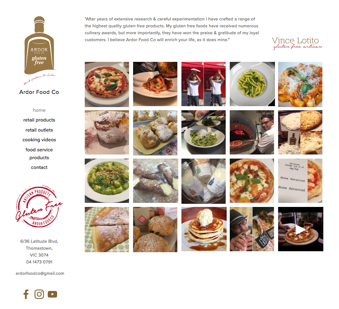 Ardor Food Co Home Page