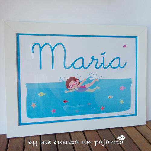 Lámina personalizada nadadora María